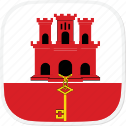 flag, gi, gibraltar icon