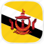bn, brunei, flag icon
