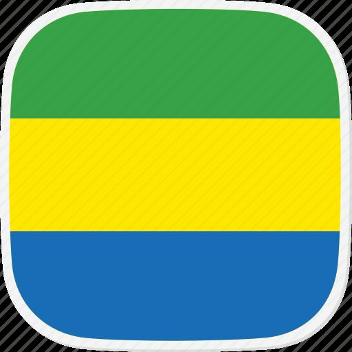 flag, ga, gabon icon