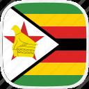 flag, zimbabwe, zw icon