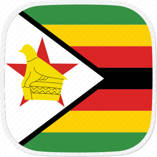 flag, zimbabwe, zw icon