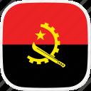angola, ao, flag icon