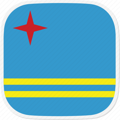 aruba, aw, flag icon