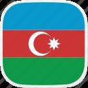 az, azerbaijan, flag icon