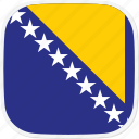 and, bosnia, flag, herzegovina icon