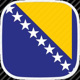 and, bosnia, flag, herzegovina icon