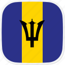 barbados, bb, flag icon