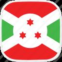 burundi, flag, bi