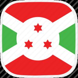bi, burundi, flag icon