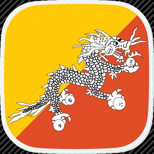 bhutan, bt, flag icon