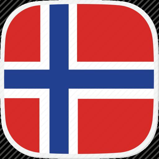 bouvet, bv, flag, island icon