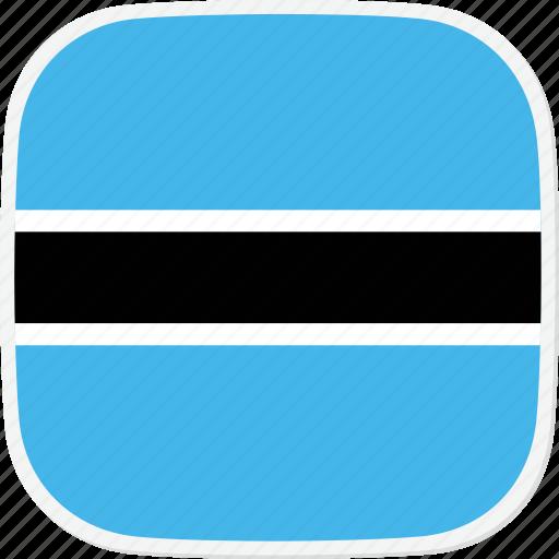 botswana, bw, flag icon