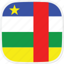 african, central, cf, flag, republic icon