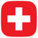 ch, flag, switzerland icon
