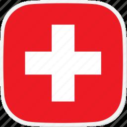 ch, flag, switzerland icon