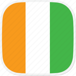 ci, cote, divoire, flag icon