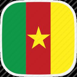 cameroon, cm, flag icon