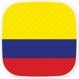 co, colombia, flag icon