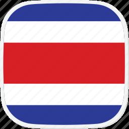 costa, cr, flag, rica icon