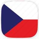 cz, czech, flag, republic icon