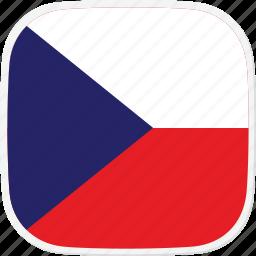 cz, czech, flag, republic icon