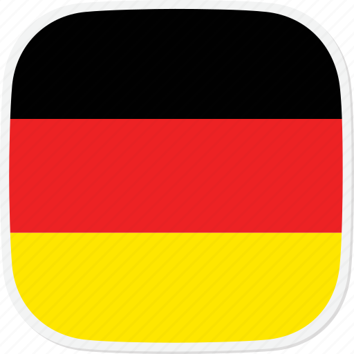 de, flag, germany icon