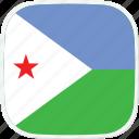 dj, djibouti, flag icon