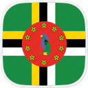 dm, dominica, flag icon