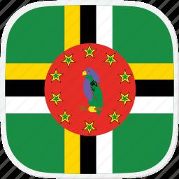 dm, dominica, flag icon