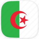 algeria, dz, flag icon