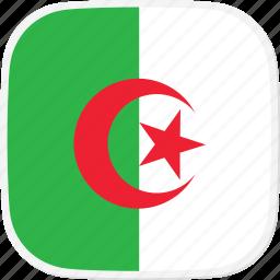 algeria, dz, flag icon
