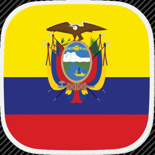 ec, ecuador, flag icon
