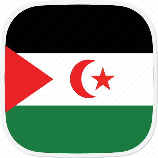 eh, flag, sahara, western icon