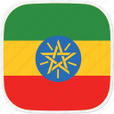 et, ethiopia, flag icon
