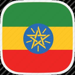et, ethiopia, flag icon