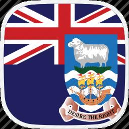 falkland, fk, flag, islands, islas, malvinas icon