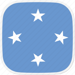 federated, flag, fm, micronesia, of, state icon