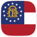 flag, ga, georgia, state, us icon