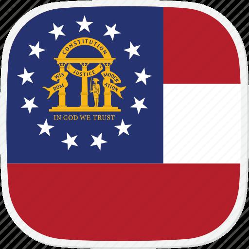 flag, ga, georgia, state, us icon