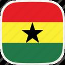 flag, gh, ghana icon