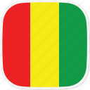 flag, gn, guinea icon