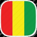 gn, flag, guinea icon