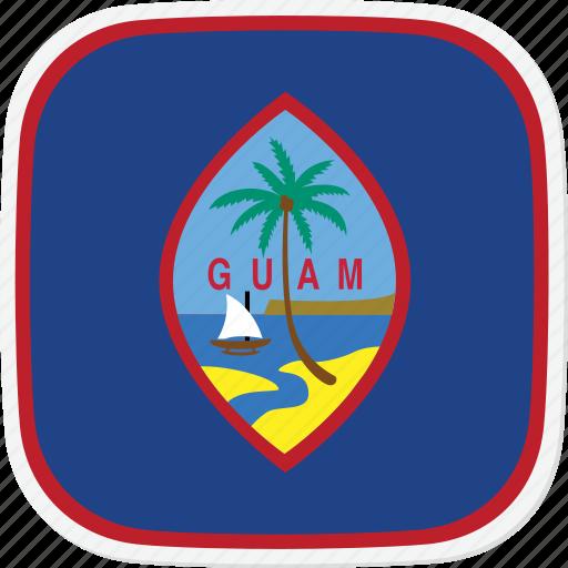 flag, gt, guam icon