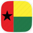 flag, guinea, gw icon