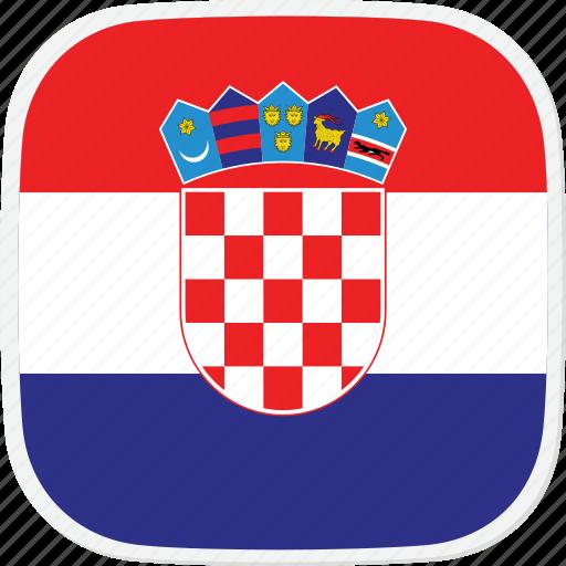 croatia, flag, hr icon
