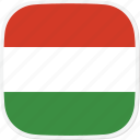 flag, hu, hungary icon