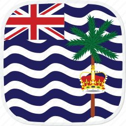 british, flag, indian, io, ocean, territory icon