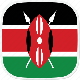 flag, ke, kenya icon