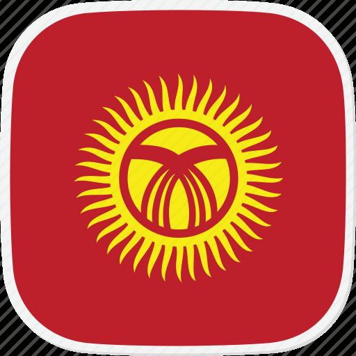 flag, kg, kyrgyzstan icon