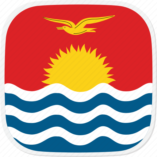 flag, ki, kiribati icon